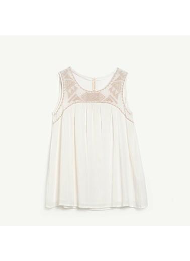 Yargıcı Kadın Nakışlı Kolsuz Bluz 0YKGM6126X Beyaz